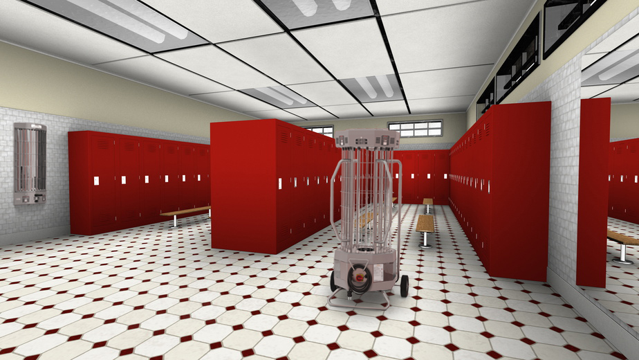 UVC, UV disinfection, locker room